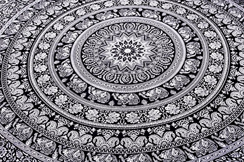 Indian Elephant Mandala Tapestry, Hippie Tapestries, Tapestry Wall Han