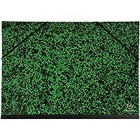 Exacompta 542000E - Carpeta de dibujo annonay con gomas elásticas, A3, 32 x 45 cm, color verde