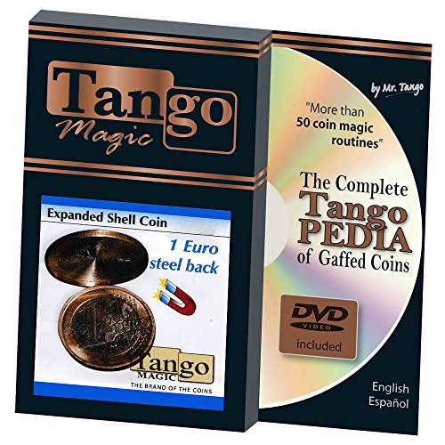 MMS Expanded Shell Coin - (1 Euro, Steel Back with DVD) by Tango Magic - Trick (E0066) (Dvd-magic Trick)