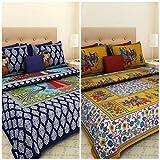 Best Home Fashion Designs Home Fashion Pillows - Suraaj Fashion Cotton Jaipuri 2 Double Bed Bedsheets Review