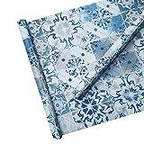 CXN Papier Peint Art Rétro Style Peler Et Coller Mur Vinyle Collant PVC Imperméable Amovible Tuile Sticker Autocollant pour La Décoration Intérieure 45 × 1000cm