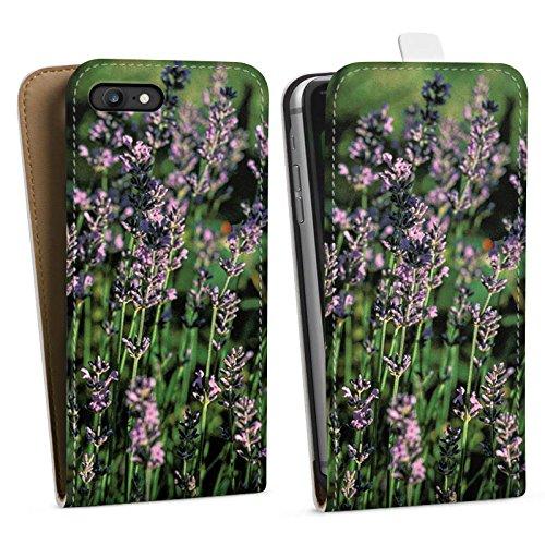 Apple iPhone X Silikon Hülle Case Schutzhülle Lavendel Blumen Natur Downflip Tasche weiß