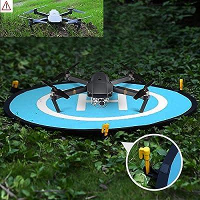 WisFox 80cm Landing Pad per RC Drone Quadcopter Helicopter Con 4 Punti Fissi, Impermeabile / Pieghevole, Pad di Atterraggio per DJI Mavic Pro / DJI Spark / DJI Inspire / Phantom 2 3 4 & DeeRC Predator by Bystep