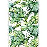 murando Papier peint intissé feuilles tropicales Monstera 150x280 cm -Trompe l oeil - Tableaux muraux - Déco - XXL - blanc vert b-B-0295-am-a