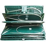 Aiguilles Circulaires à Tricoter en Acier Inoxydable Set(11 pcs),professionnelle 80 cm plusieurs tailles 5mm à 1.5mm. (Groß)