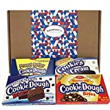 Cookie Dough Bites American Chocolate Selection Gift Box - Chocolate Chip, Fudge Brownie, Cookies 'n' Cream & Peanut Butter - Hamper Exclusive To Burmont's