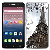 Easbuy Handy Hülle Soft Silikon Case Etui Tasche für Alcatel One Touch Pixi 4 (6.0 Zoll) 6,0 Zoll 3G Version OT-8050D OT8050 8050D 8050 Smartphone Cover Handytasche Handyhülle Schutzhülle