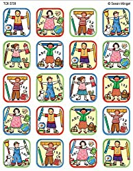 Teacher Created Resources School Kids Stickers from Susan Winget, Multi Color (5731)