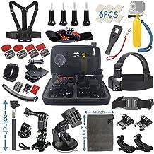 Vanwalk Esencial Kit de Accesorios para Camara de Accion Gopro Hero 6 5 4 3+ Black Silver, SJcam SJ4000 SJ5000 SJ6000 SJ7000, Xiaomi Yi, Akaso DBPOWER - (22 en 1)