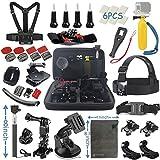 Vanwalk 20-in-1 Kit accessori per GoPro Hero 5 Sessione 4 3+ 3 2 1 Silver Black, macchina fotografica di azione SJCAM SJ4000 / SJ5000 / SJ6000 / dBpower / WiMiUS / Xiaoyi / Xiaomi Yi / TecTecTec (22 in 1)