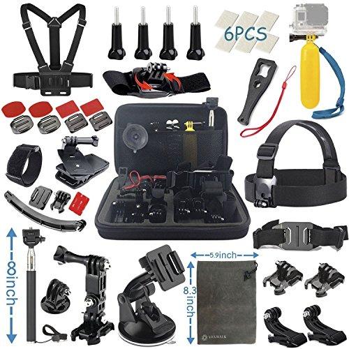 Zubehör für GoPro Hero 6 5 4 3+ 3 2 1 Black Silver, für Aktion Kamera SJ4000 SJ5000 SJ6000 SJ7000, Xiaomi Yi/Lightdow/WiMiUS/DBPOWER (22 in 1)