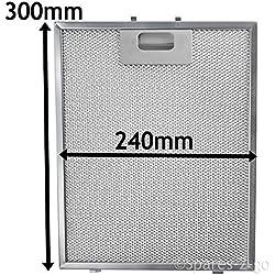 Spares2go filtre en maille métallique pour Zanussi hotte/ventilateur d'extraction d'air Grille d'aération (Argent, 300x 240mm)