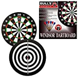 BULL'S Windsor Paper Dartboard 45.5 cm mit 6 Pfeilen