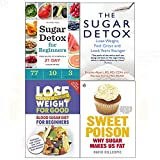sugar detox for beginners, lose weight for good, sugar detox, sweet poison 4 books collection set - your guide to starting a 21-day sugar detox, lose weight, feel great and look years younger, blood sugar diet for beginners