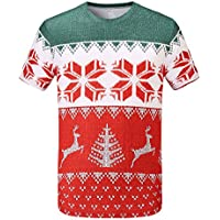 Mens REdbEAR Christmas Jumper Running T-Shirt. - Designed To Look Like a  Traditional. See Size Options a3a27fd25