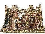 Villaggio Gigante Accessoriato Senza Personaggi - Bertoni presepi linea Natale
