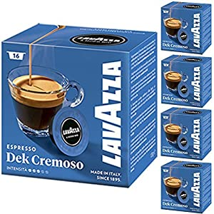 Buy Lavazza A Modo Mio Espresso Dek Cremoso 16 Coffee Machine Capsules (Pack of 5) from Luigi Lavazza S.p.A.
