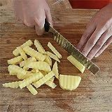 Bazaar gebratenen gewellter Frites aus Edelstahl Cutter Pommes-Frites Schneider Küche Cutter Karotte Vegetal