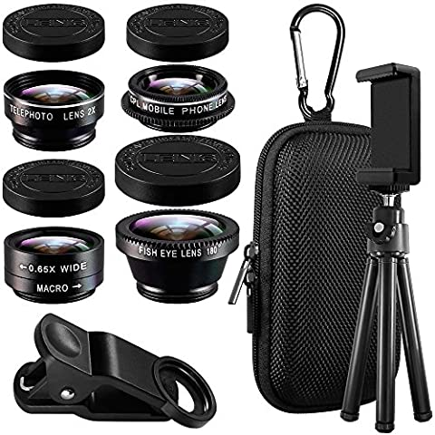 5 in 1 Cell Phone Camera Lens Kit with Tripod