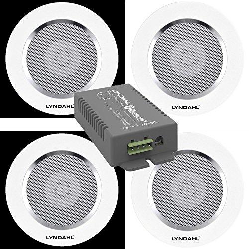Lyndahl Juego de Altavoces, Amplificador Bluetooth de 4 Canales CS200BT-AMP y Altavoces...
