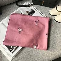 Bufanda de cachemira de imitación de bordado fino de doble uso , A