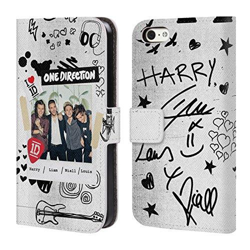 Offizielle One Direction Sofa Harry Made In The A.m. Brieftasche Handyhülle aus Leder für Apple iPhone 5 / 5s / SE Bilder W