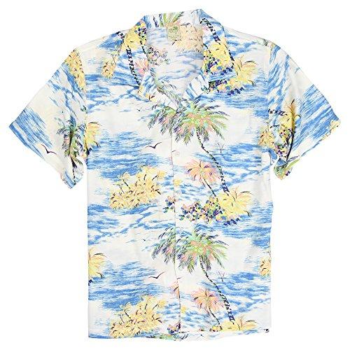 Urban Boundaries Herren Hemd, kurzärmelig, leicht, hawaiianisches Muster - - - Frat Kostüm Männer