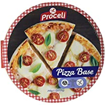 Proceli Base Pizza Sin Gluten - Paquete de 2 x 125 gr - Total: 250
