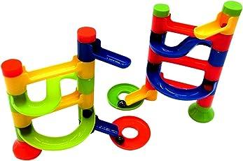 Zibuyu DIY Building Blocks Education Track Game Tower Orbit Ball Toy
