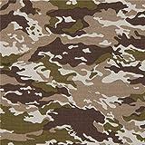 Stoff mit braunem und grünem Flecktarn von Robert Kaufman
