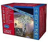 Konstsmide 3612-200 Micro LED Lichterkette/für Außen (IP44) / 24V Außentrafo / 120 kalt weiße Dioden/schwarzes Kabel