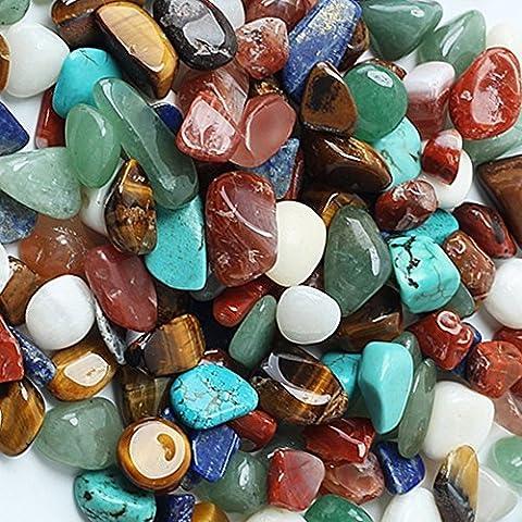 Lot de 80 pierres naturelles polies, assorties, de forme irrégulière - Petite taille