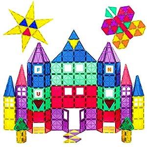 Playmags 100 piezas Super Set - Con los Imanes más Fuertes Garantizados, Robustos y Súper Duraderos con Colores Vívidos y Claros. Accesorios Clickins de 18 Piezas para Mejorar tu Creatividad