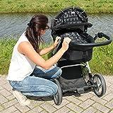 Dooky Design Sonnenschutz Sonnenblende für Kinderwagen und Babyschalen Black Tribal