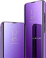 Kompatibel mit Sony XZ3 Hülle Clear View Mirror Cover Neueste Flip Spiegel Schutzhülle Schöne Standing Case Speziell Design H