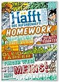 Häfft Smart: A5 Hausaufgabenheft mit verkürztem Innenteil und Kunststoff-Umschlag. Motiv: Typo