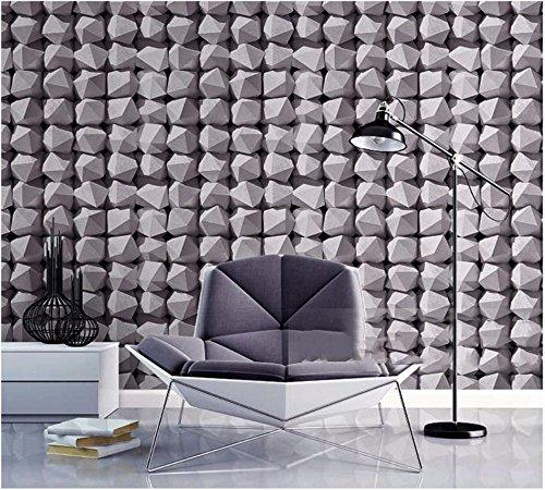 JSLCR 3D-Geometrie moderne abstrakte weißen Tapete einfach Mode Kleidung Shop Barbershop Fernsehen Hintergrundbild,Dunkelgrau