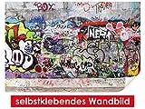 selbstklebendes Wandbild Urban Graffiti – leicht zu verkleben – Wallprint, Wallpaper, Poster, Vinylfolie mit Punktkleber für Wände, Türen, Möbel und alle glatten Oberflächen von Trendwände
