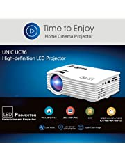 UNIC UC36 Mini LED Portable Projector Full HD Support Home Theater USB/AV/HDM...