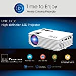 UNIC UC36+ Mini Portable HDMI WiFi Projector USB Home Theater Cinema Projector - White