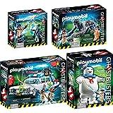 PLAYMOBIL® Ghostbusters™ Set: 9220 9221 9223 9224 Ecto-1 + Stay Puft Marshmallow Man + Venkman und Terror Dogs + Spengler & Ghost