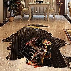 Pegatina de suelo adhesiva efecto 3D mural dragon