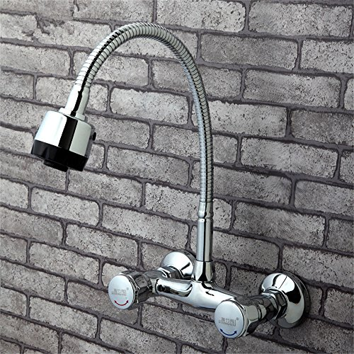 MulFaucet wasserhahn armatur hahn Wasserleitung Faucet In-Wall Küche heiß und kalt Doppel Schüssel Spüle Waschmaschine Mischventil Balkon Keramik Ventil Spule C