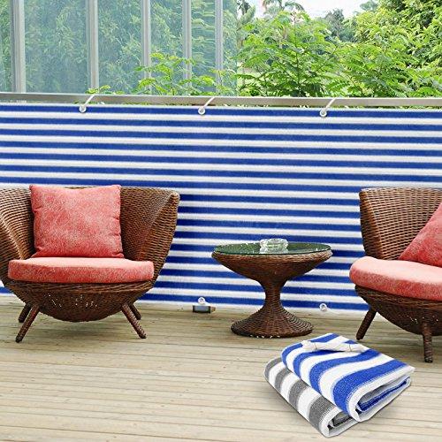 Balkon-Sichtschutz-UV-Schutz-90x500cm-wetterbestndiges-und-pflegeleichtes-HDPE-Spezialgewebe-verschiedene-Farben