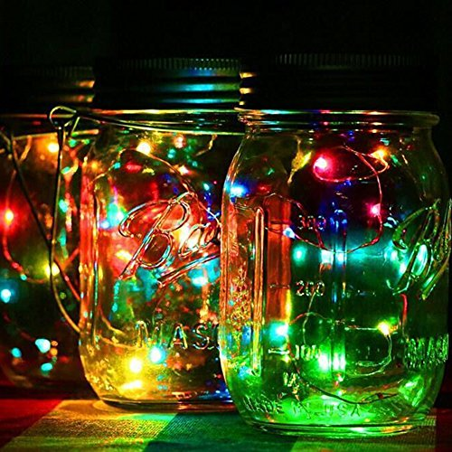 Butterme 6.6ft Solar Mason Jar Deckel Lichter, 3-Pack Einmachglas mit 20 Leds Solar Fairy Firefly Led Lichter Deckel einfügen, passen regelmäßige Mund Mason Gläser für Garten Deck Patio Party Hochzeit Weihnachten dekorative (Gläser nicht enthalten) (Mason Jar Lampe)