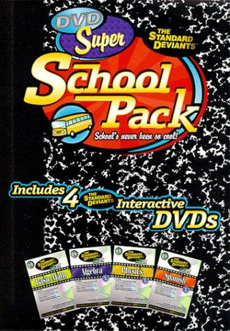 The Standard Deviants - Super School Pack (Algebra 1, Spanish 1, Basic Math, Physics 1) [Import USA Zone 1]