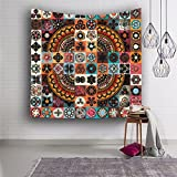 LLP LM Wohnzimmer Hippie Wandteppiche,Drucken Tapisserie Wandverkleidung Badetuch Wandbehang Dekoration Kopftuch 150 * 200cm, d