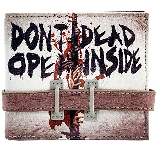 Daryl Kostüm Walking Dead (Walking Dead Öffnen sie nicht Strap Buttoned Grau Portemonnaie)