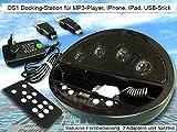 Mini Vertsärker Aktivlautsprecher MP3-Player iPhone iPod iPad Lautsprecherdock Ladestation - Modell: DS1