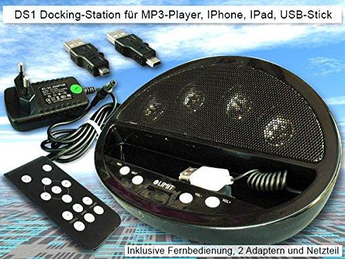 Preisvergleich Produktbild Mini Vertsärker Aktivlautsprecher MP3-Player iPhone iPod iPad Lautsprecherdock Ladestation - Modell: DS1